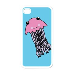 Jellyfish Cute Illustration Cartoon Apple Iphone 4 Case (white)
