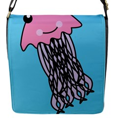 Jellyfish Cute Illustration Cartoon Flap Messenger Bag (s)