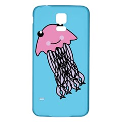 Jellyfish Cute Illustration Cartoon Samsung Galaxy S5 Back Case (white)