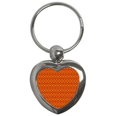 Pattern Creative Background Key Chains (heart)