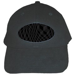 Pattern Dark Black Texture Background Black Cap by Nexatart