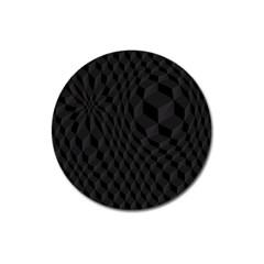 Pattern Dark Black Texture Background Magnet 3  (round)