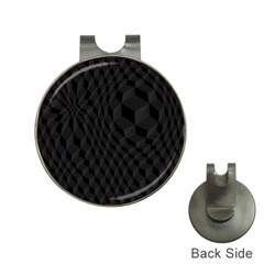 Pattern Dark Black Texture Background Hat Clips With Golf Markers