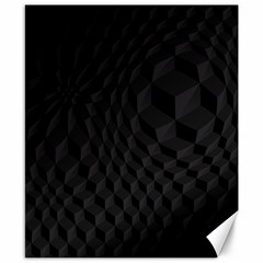 Pattern Dark Black Texture Background Canvas 8  X 10