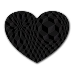Pattern Dark Black Texture Background Heart Mousepads