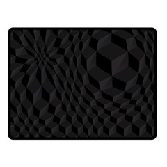 Pattern Dark Black Texture Background Fleece Blanket (small)
