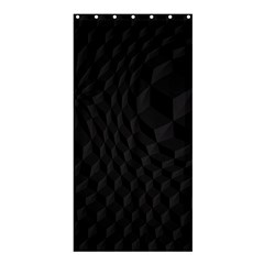 Pattern Dark Black Texture Background Shower Curtain 36  X 72  (stall)