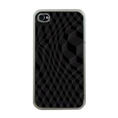 Pattern Dark Black Texture Background Apple Iphone 4 Case (clear)