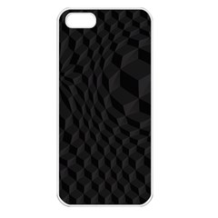 Pattern Dark Black Texture Background Apple Iphone 5 Seamless Case (white)