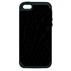 Pattern Dark Black Texture Background Apple Iphone 5 Hardshell Case (pc+silicone)