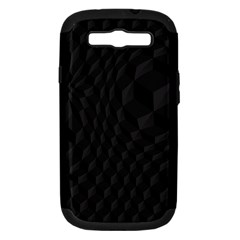 Pattern Dark Black Texture Background Samsung Galaxy S Iii Hardshell Case (pc+silicone)