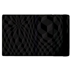 Pattern Dark Black Texture Background Apple Ipad 2 Flip Case
