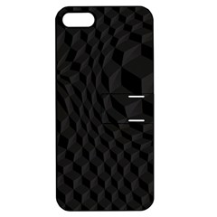 Pattern Dark Black Texture Background Apple Iphone 5 Hardshell Case With Stand by Nexatart