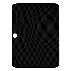 Pattern Dark Black Texture Background Samsung Galaxy Tab 3 (10 1 ) P5200 Hardshell Case