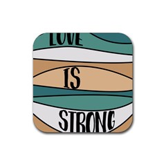 Love Sign Romantic Abstract Rubber Square Coaster (4 Pack)  by Nexatart