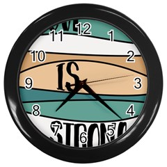 Love Sign Romantic Abstract Wall Clocks (black)