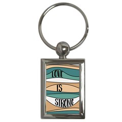 Love Sign Romantic Abstract Key Chains (rectangle)