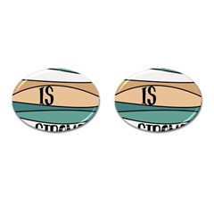 Love Sign Romantic Abstract Cufflinks (oval)