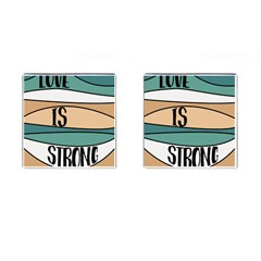 Love Sign Romantic Abstract Cufflinks (square)