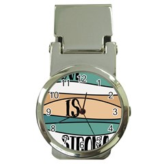 Love Sign Romantic Abstract Money Clip Watches