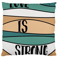Love Sign Romantic Abstract Large Cushion Case (two Sides) by Nexatart