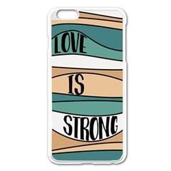 Love Sign Romantic Abstract Apple Iphone 6 Plus/6s Plus Enamel White Case