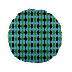 Rockabilly Retro Vintage Pin Up Standard 15  Premium Round Cushions by Nexatart