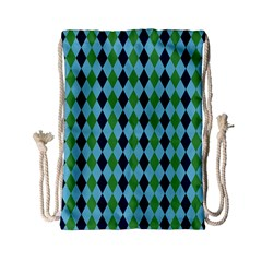 Rockabilly Retro Vintage Pin Up Drawstring Bag (small) by Nexatart