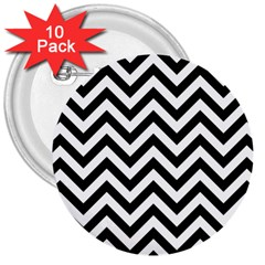 Wave Background Fashion 3  Buttons (10 Pack)  by Nexatart