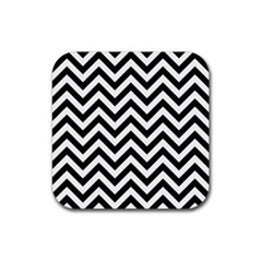 Wave Background Fashion Rubber Square Coaster (4 Pack)  by Nexatart