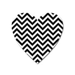 Wave Background Fashion Heart Magnet by Nexatart