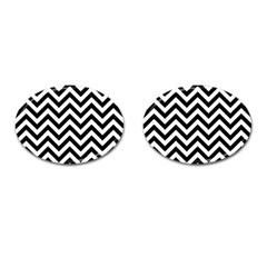 Wave Background Fashion Cufflinks (oval) by Nexatart