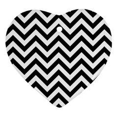 Wave Background Fashion Heart Ornament (two Sides)