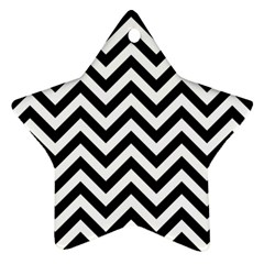Wave Background Fashion Star Ornament (two Sides)