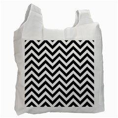 Wave Background Fashion Recycle Bag (one Side)