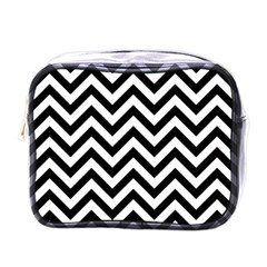 Wave Background Fashion Mini Toiletries Bags