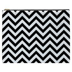 Wave Background Fashion Cosmetic Bag (xxxl)