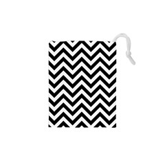 Wave Background Fashion Drawstring Pouches (xs)