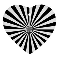 Rays Stripes Ray Laser Background Ornament (heart)