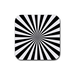 Rays Stripes Ray Laser Background Rubber Square Coaster (4 Pack)  by Nexatart