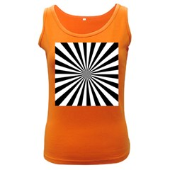Rays Stripes Ray Laser Background Women s Dark Tank Top