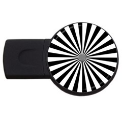 Rays Stripes Ray Laser Background Usb Flash Drive Round (4 Gb)