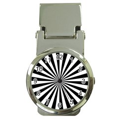 Rays Stripes Ray Laser Background Money Clip Watches