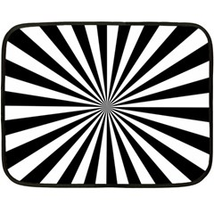 Rays Stripes Ray Laser Background Double Sided Fleece Blanket (mini)