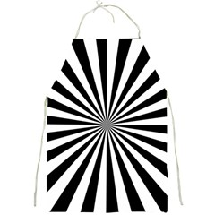 Rays Stripes Ray Laser Background Full Print Aprons