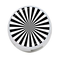 Rays Stripes Ray Laser Background 4 Port Usb Hub (two Sides)