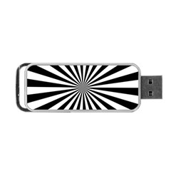 Rays Stripes Ray Laser Background Portable Usb Flash (two Sides)