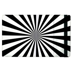 Rays Stripes Ray Laser Background Apple Ipad 2 Flip Case by Nexatart