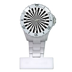 Rays Stripes Ray Laser Background Plastic Nurses Watch