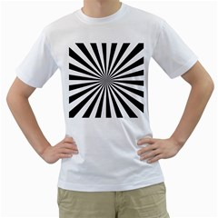 Rays Stripes Ray Laser Background Men s T Shirt (white)